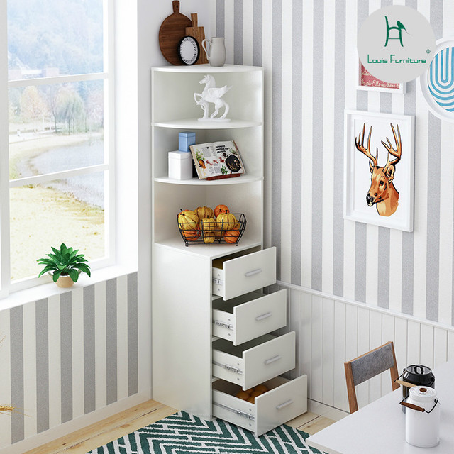 Louis Fashion Bookcases Simple Living Room Accommodating Corner ...
