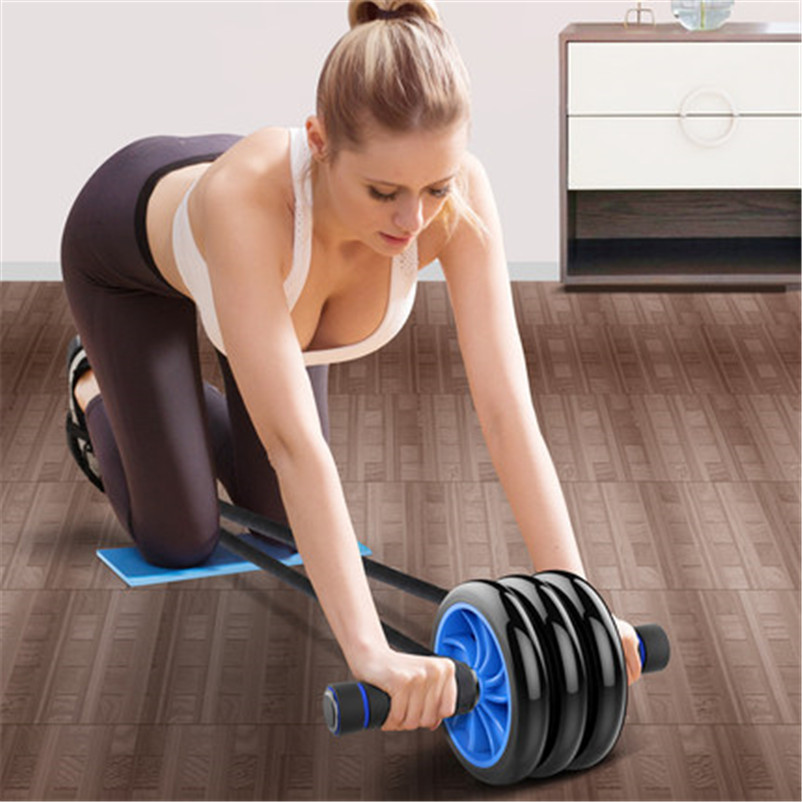 Home gym roller abdominal muscle stimulation trainer ab roller