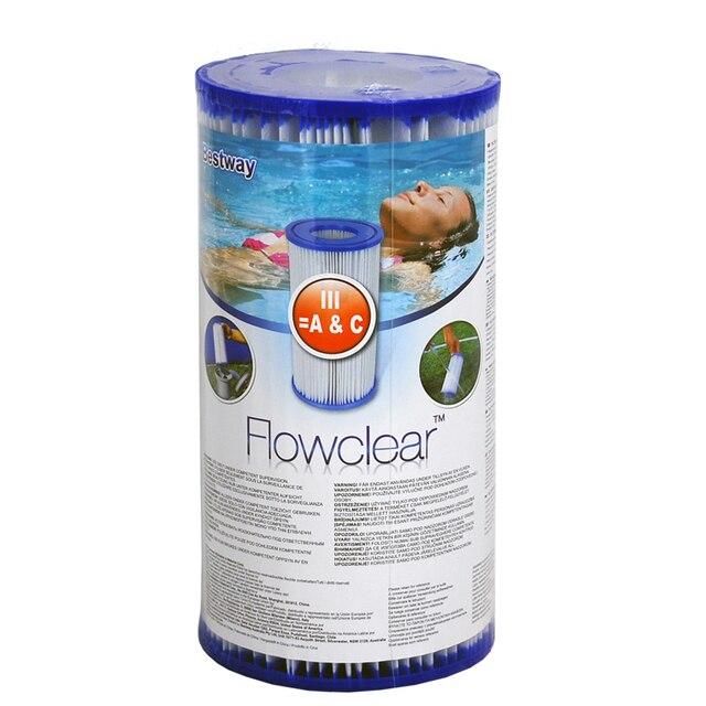 Pompa di Acqua Cartuccia del Filtro di Tipo III 58012 per 1500 litri Filtro della Piscina Pompa coronwater Official Store