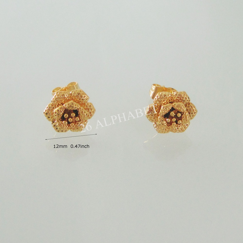 MIN ORDER 10$ CAN MIX DESIGN/VIVID ROSE FLOWER SHAPE DIAMETER 0.47 ...