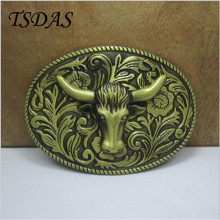 Brass Ox Head Buckles Mens Belt Buckles For Clothing, Men's Metal Belt Buckle Head For 4cm/1.57in Wide Belt Jeans accessories