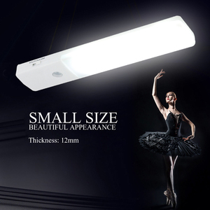 BORUiT 6 LED Cabinet Light USB Rechargeable Kitchen Bedroom Closet Cupboard Light Wireless Hallway Stair Light LED Night Lamp