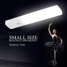 BORUiT PIR Motion Sensor 6 LED Night Light USB Rechargeable Closet Cabinet