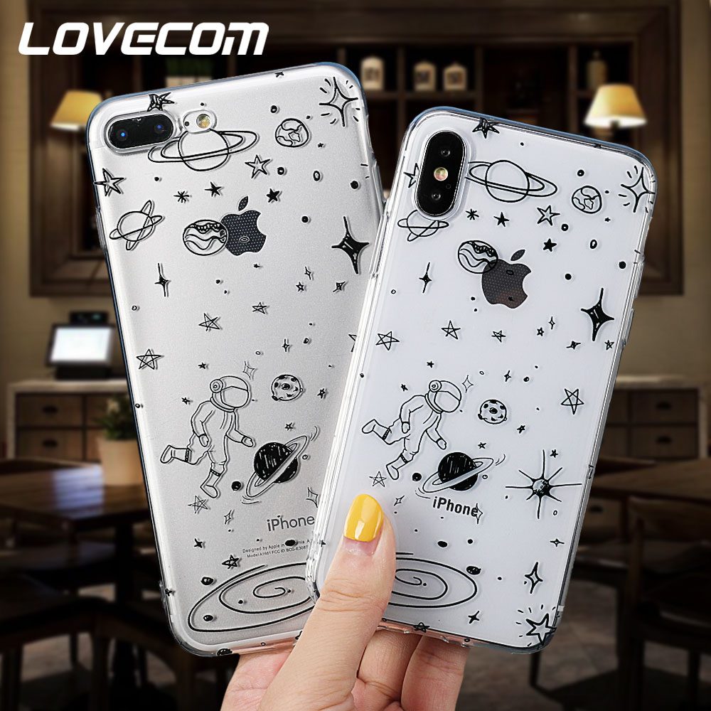 Half-wrapped Case Maiyaca Airship Astronaut Star Moon Night Coque Fundas Shell Phone Case For Apple Iphone 8 7 6 6s Plus X 5 5s Se 5c Cover