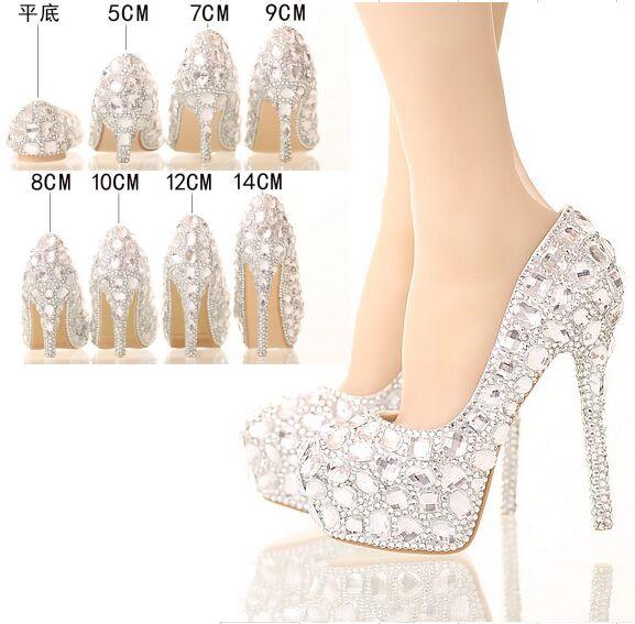 silver high heels for wedding