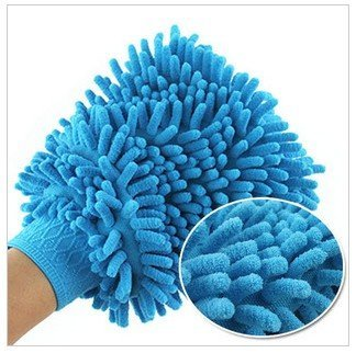 Microfiber  Chenille  double surface waterproof  Glove for cleaning