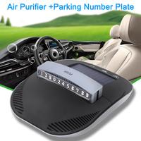 Car Air Purifier Plus Parking Number Plate Smart Touch Removes Cigarette Smoke Dust Frost Germs Food Odors for Car & Home