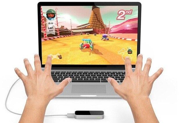 Caliente salto motion 3d mano controlador mac y pc sin tocar nada