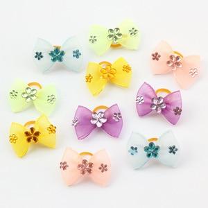 Armi store Handmade Mini Mesh Ribbon Dog Bow Dog Grooming Bows 60290019 Pet Supplies Wholesale