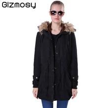 Winter Jacket Women Wool Liner Coat Overcoat Casual Ultra-light Manteau Fur Hooded Green Parka For Women Thin Style BN578