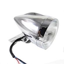 12v H4 Bullet Motorcycle Headlight Lamp w/Bracket Mount For Honda Yamaha Kawasaki Suzuki Chopper Bobber Custom