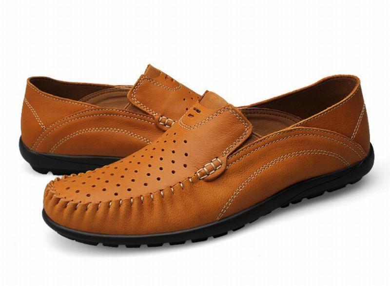 ab9a8a7ad6331 Hombres Los En Conducir Brown Hombre Alta Verano Mano Zapatos blue  Mocasines Causal khaki Auténtico Calidad Cuero Deslizamiento zPwvqEwx6