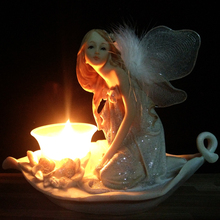 Angel Candlestick Fairy garden beautiful Girl Candle Holder Home Decoration Wedding Decor Christmas Gifts Tealight Candle