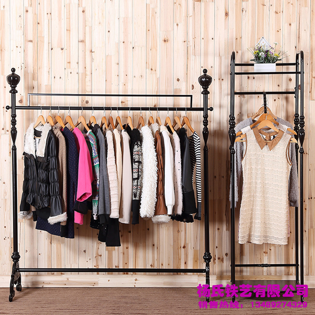 Young Wrought Iron Clothing Rack Clothing Store Display