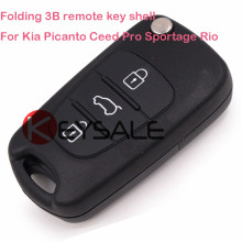 New Uncut Keyless Entry Flip Remote Key Case Shell Cover 3 BUTTONS For KIA SORENTO SPORTAGE
