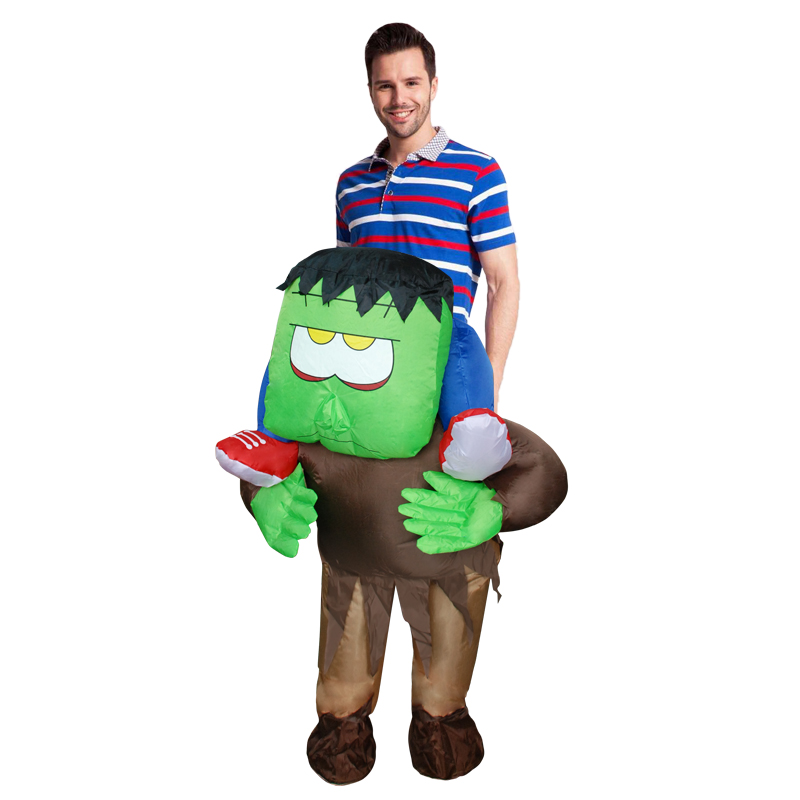 New Adult Inflatable Horrible Ride on Frankenstein Monster Costume Halloween Cosplay Outfit Halloween Costume for Women