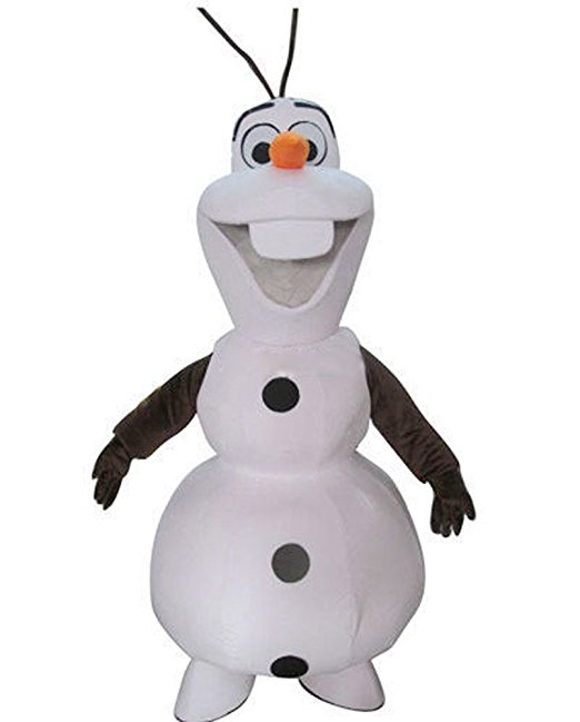 Smiling Olaf mascot costume   Adult size