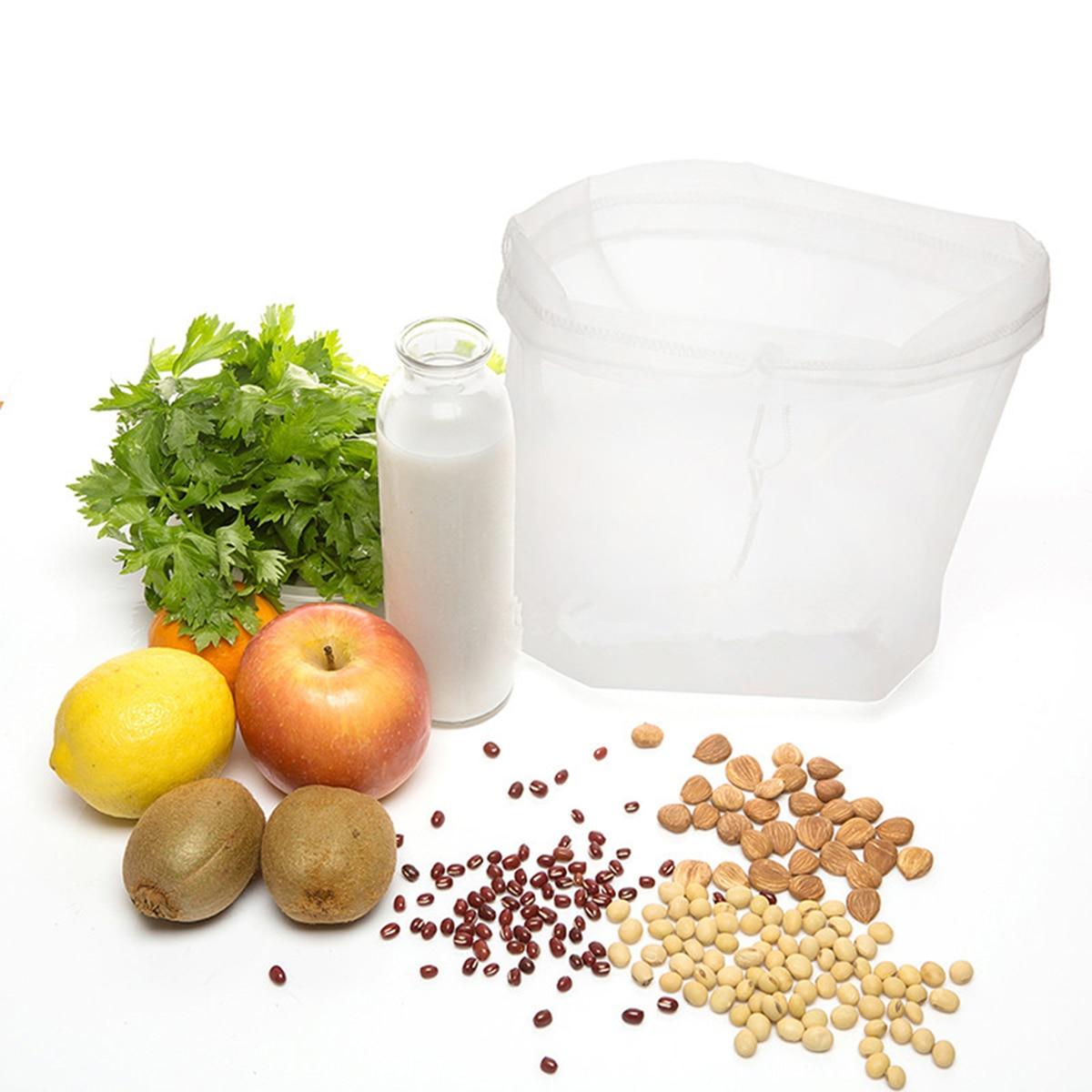 Fish Tank Nylon Mesh Filter Bag Milk Fruit Juice Nut Tea Reusable Net Strainer