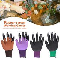 1 par luvas de jardim com garra fingertip abs plástico luvas rápida planta escavação para casa estufa escavação plantio|Luvas p/ jardinagem| |  -