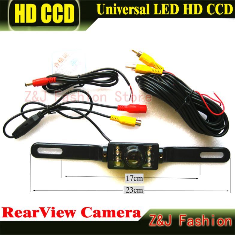 범용 8 LED 자동 주차 HD CCD 자동차 후면보기 카메라 - 자동차 전자