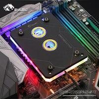 Bykski CPU bloc d'eau utilisation pour AMD RYZEN3000 AM3 AM3 + AM4 1950X TR4 X399 X570 carte mère/5 V 3PIN RGB lumière/radiateur en cuivre|Refroidissement par fluide| |  -