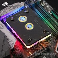 Bykski CPU con radiador de cobre y luz RGB de 5V y 3 pines, bloque de agua, para AMD RYZEN3000 AM3 AM3 + AM4 1950X TR4 X399 X570