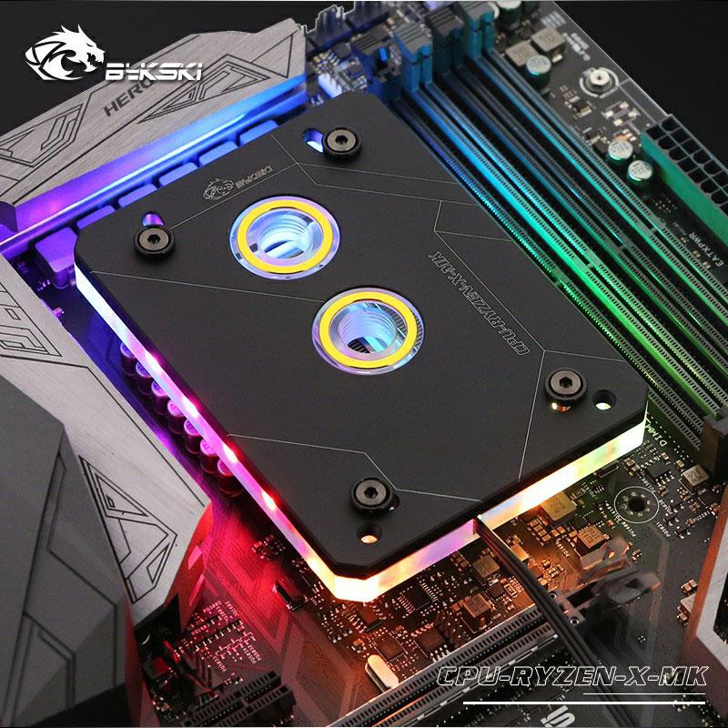 AM4 Bykski Acrylic CPU Water Block Cooling Micro Channe for AMD AM2 AM3 AM3