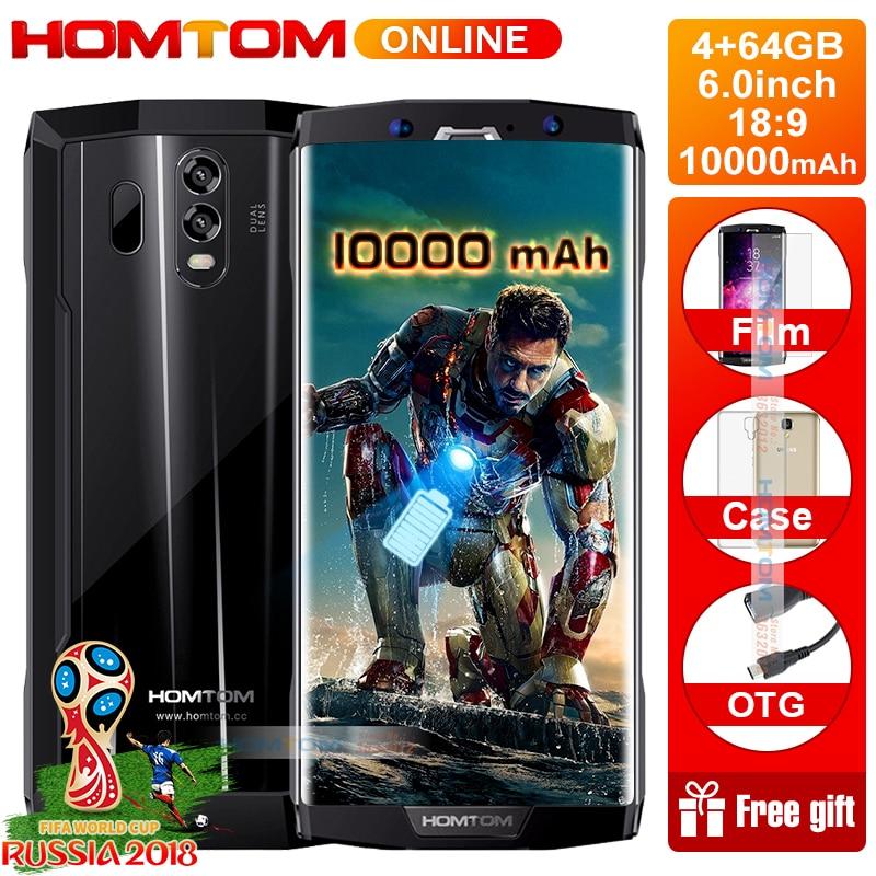HOMTOM HT70 6.0 HD+18:9 Screen Smartphone MTK6750T Octa Core 4G RAM 64G ROM 10000mAh Battery 16MP+5MP Dual Cam 4G Smartphone