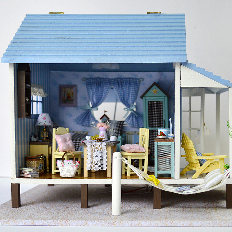 DIY Doll House Wooden Toy Furniture 3D Doll Houses Miniatures Dollhouse Handmade Toys for Children Present сумка wooden houses w287 2014