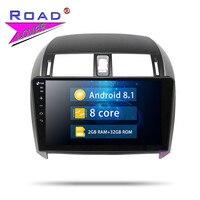 Roadlover Android 7,1 автомобиль радио плеер для Защитные чехлы для сидений, сшитые специально для Toyota Corolla 2007 2008 2009 2010 2011 2012 2013 стерео gps навигация 2 Din