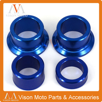 CNC Blue Front Rear Wheel Hub Spacers For Yamaha YZ250F YZ450F 2014 2015 2016 Dirt Bike Motocross
