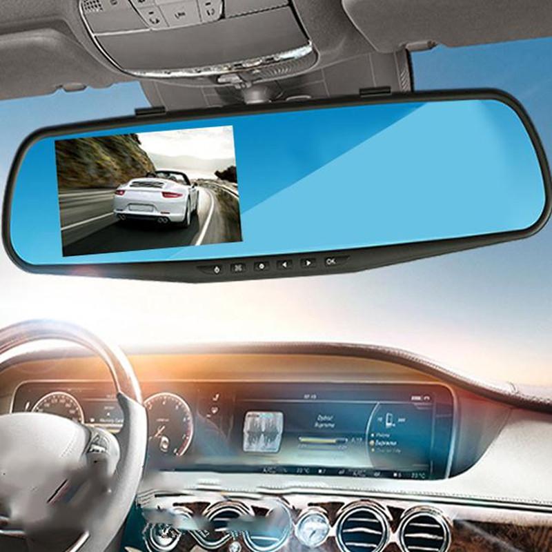 Prix pour 1080 P Voiture DVR Dvr Caméra Registrator Dash Cam 2.8 pouce Rétroviseur Numérique Vidéo Enregistreur G-Capteur Nuit Vision Caméscope