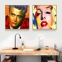 James Dean Marilyn Monroe Pop Art Canvas Print Painting Poster Wall Pictures For Living Room Decor Home Decorative No Frame