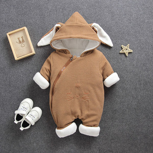 Image 4 - 2020 New Russia Baby costume rompers Clothes cold Winter Boy Girl Garment Thicken Warm Comfortable Pure Cotton coat jacket kids
