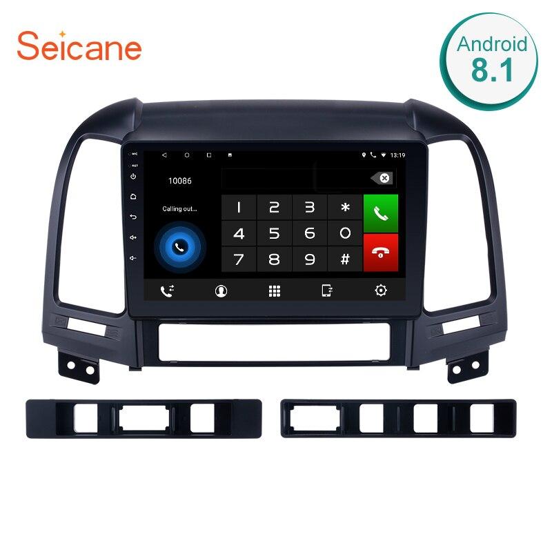 Seicane Android 8,1/7,1 9 дюймов, автомобильный, мультимедийный плеер с gps-навигатором для HYUNDAI SANTA FE 2005 2006 2007 2008 2009 2010 2011 2012
