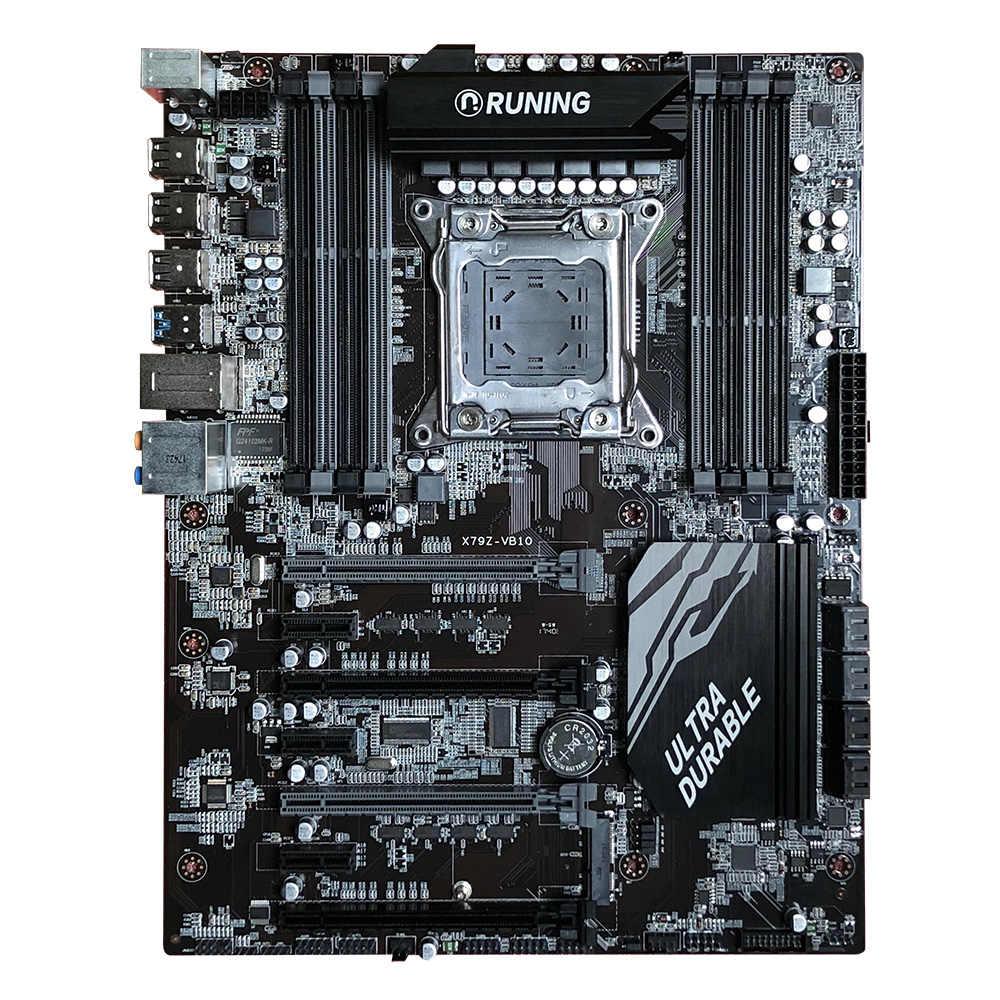 الألعاب PC اللوحة رونينغ X79 اللوحة مع 8 RAM فتحات ماكس 128 جرام إنتل زيون E5 2640 C2 2.5 جيجا هرتز RAM 4*8 جرام 1600 ميجا هرتز DDR3 RECC