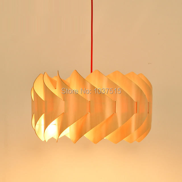 New Design Creative Wooden Decorative Lamp Cover For Dining Room Study Restaurant Living Lampshade
