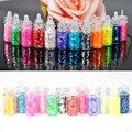 12 Unids/lote Mini Botella Nail Art Glitter Polvo del polvo Tip Rhinestone Accesorios de Belleza de Uñas de Manicura Herramientas