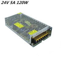 Universal 24V 5A 120W 110V 220V Lighting Transformer High Quality LED Driver For LED Strip 3528