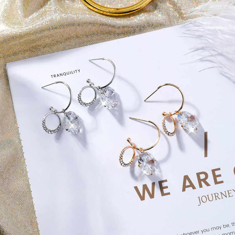 Classic Crystal Water Drop Women Dangle Earrings Fashion Geometric Earrings For Women Drops Earrings  Bohemian Earrings