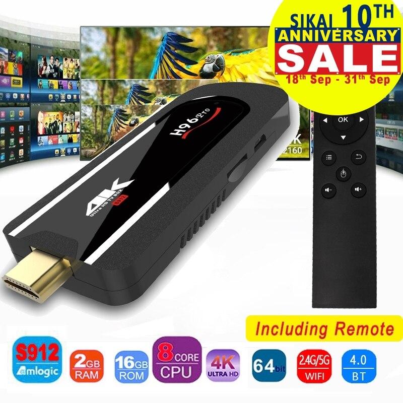 H96 Pro 4 k Mini TV Vara Amlogic Octa Núcleo S912 DDR3 16 2 gb ROM gb Android 7.1 Mini PC 2.4g Wifi HD2.0 BT4.1 Inteligente caixa de TV Android