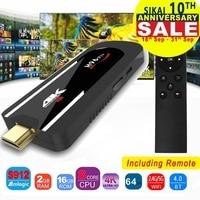 H96 Pro 4k Mini TV Stick Octa Core Amlogic S912 DDR3 2GB ROM 16GB Android 7.1 Mini PC 2.4G Wifi HD2.0 BT4.1 Smart Android TV box
