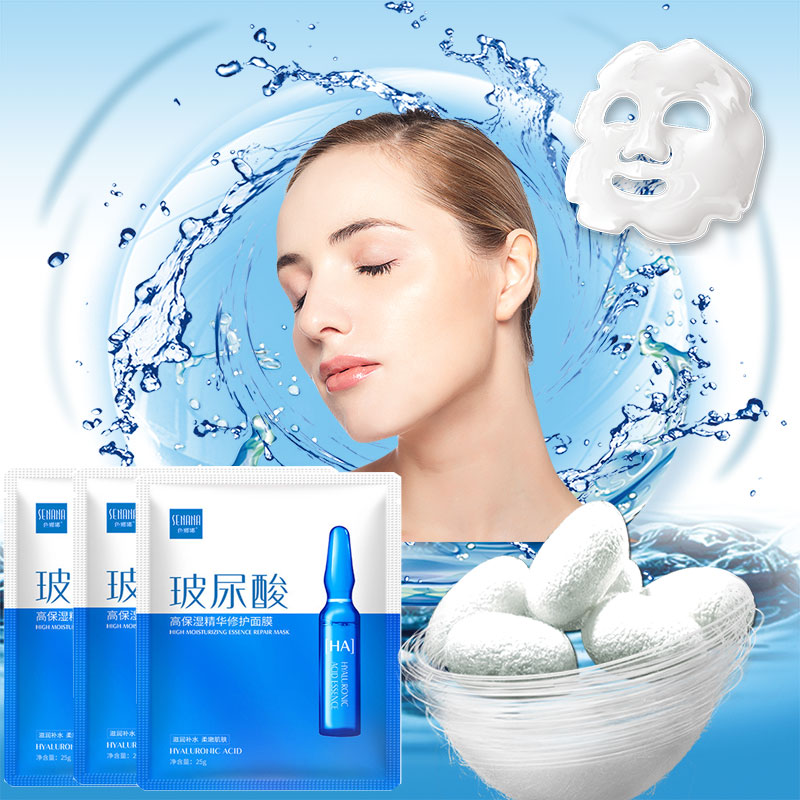 Hyaluronic Acid Face Sheet Mask Collagen Whitening Korean Beauty Facial Moisturizing Skin Care Mascara Masker Maske Facemask