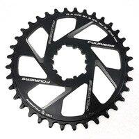 Fouriers mtb bicicleta único chainring 3mm offset montagem direta para gxp xx1 12 velocidade estreita ampla dentes chainwheel