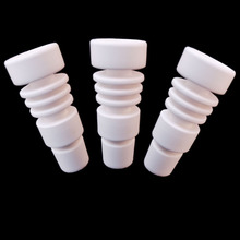 купить Newest Domeless ceramic Nail for both 14.5mm and 18.8mm male vs Titanium nail free shipping недорого