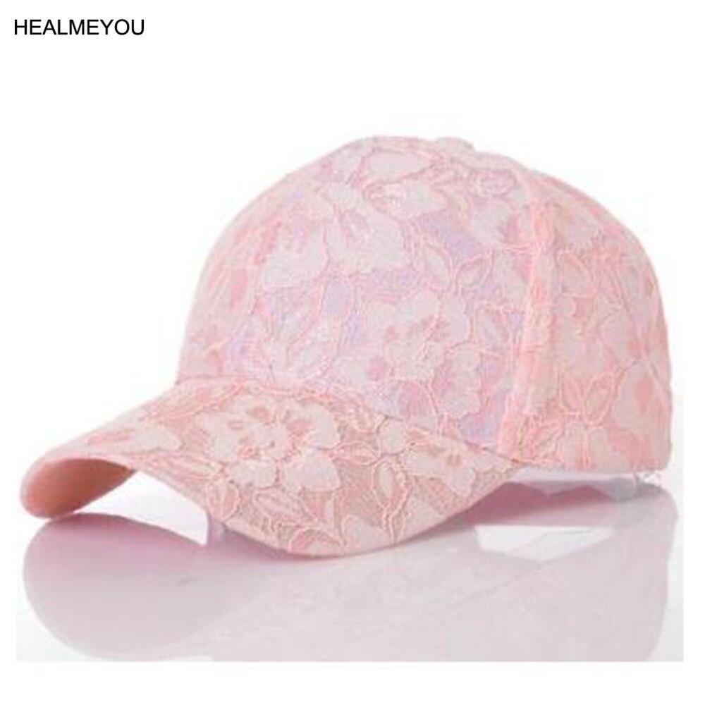Popular Women's   Baseball     Caps   Lace Sun Hats Breathable Mesh Hat Gorras Summer   Cap   for Women Snapback Casquette