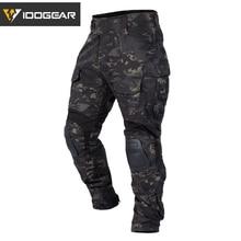 IDOGEAR Тактические bdu G3 боевые штаны камуфляж BDU военные армейские штаны с подушечками Мультикам для охоты 3205