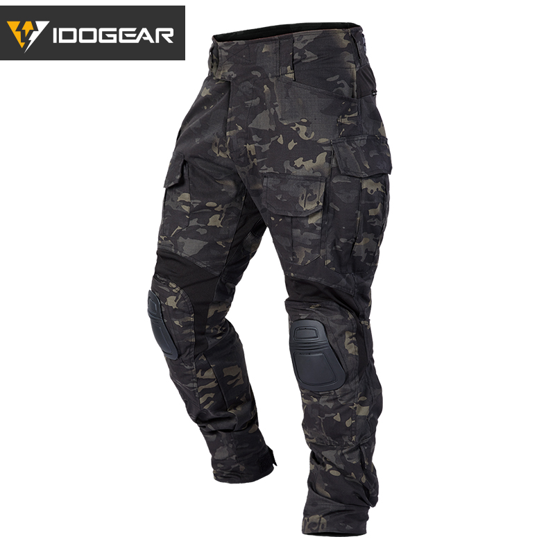 IDOGEAR Tactical bdu G3 Combat Pants Camouflage BDU Military Army Pants With Pads Hunting Multicam 3205 title=