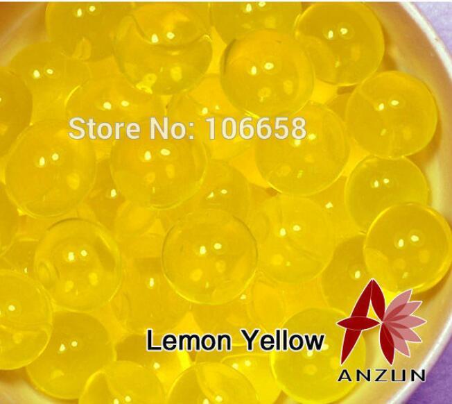 1200 шт почва из гидрогеля прозрачный цветок растения вода питательный Биогель почва семья украшение - Цвет: No 7 Lemon yellow