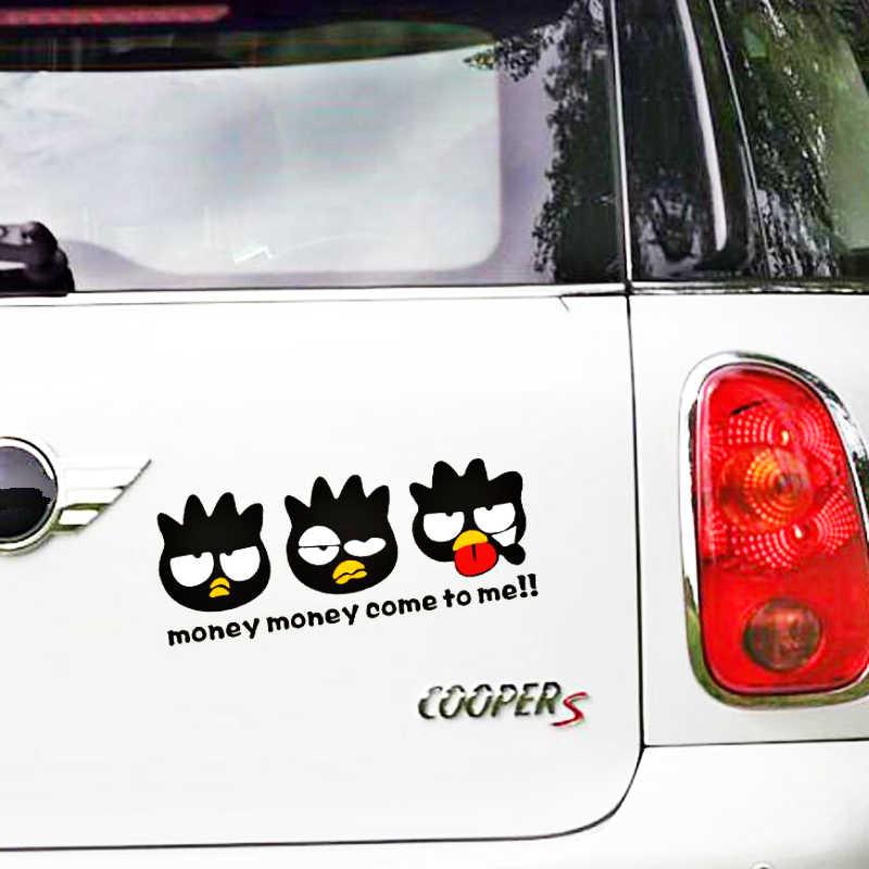 Aliauto 車の装飾漫画ペンギンマネー来て私のためのオートバイのラップトップスーツケースシボレールノースマートホンダ